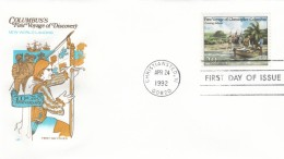 #2622 FDC Voyages Of Columbus 500th Anniversary Exploration New World Landing, 24 April 1992 Illustrated Cover - First Day Covers (FDCs)