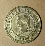 "Jeton Britannique ""Victoria Regina Jubilee 1887 / Born 1819 - Crowned 1838"" - Royaux/De Noblesse"