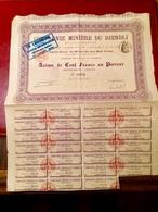Cie  MINIÈRE   Du  DJENDLI   --------  Action  De  100 Frs - Mines