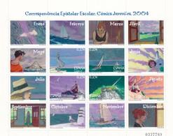 "2004, Spanien, 3931/34. Schülerpost: Comic ""Trazo De Tiza"" Von Miguelanxo Prado. MNH ** - 2001-10 Unused Stamps"