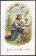 """Gesù Nell' Orto Degli Olivi / Con Angeli - (fine Ottocento)  - """"Riproduzione"""" - Devotieprenten"""