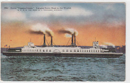 """""""Contra Costa"""" - Largest Ferry Boat In The World        (A-68-100415) - Ferries"""