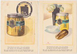 GERMANY 1939/43 HONEY ADVERT PC (2) USED WIESBADEN - Autres