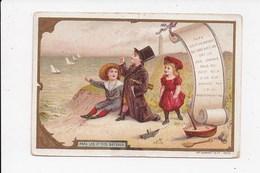"""CHROMO  CHICOREE Voelcker à Bayon Meurthe Et Moselle  """"Papa Les P'tits Bateaux"""" Avec Calendrier De1896 - Calendars"""