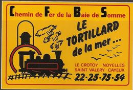 AUTOCOLLANT ADHÉSIF CHEMIN DE FER DE LA BAIE DE SOMME LE TORTILLARD DE LA MER - LE CROTOY NOYELLES St VALÉRY CAYEUX - Railway