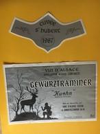 "5675 - Gewurztraminer ""Kuehn"" Cuvée St-Hubert 1987 Alsace - Hunting"
