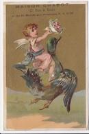CHROMO  Maison Chabot LILLE Mercerie Ganterie  Petit Ange  Sur Oie - Trade Cards