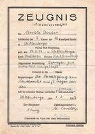 ZEUGNIS Halbjahr 1947 - Diplome Und Schulzeugnisse
