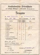 Kaufmäniche Privatschule 1922 - Diplome Und Schulzeugnisse