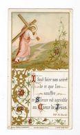 Jésus Portant Sa Croix, Citation Vénérable Madeleine-Sophie Barat, Fleurs, Enluminure, éd. J. Duret - Devotion Images