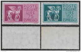 Italia Italy 1958 Espresso Cavalli Alati Sa N.E34-E35 Completa Nuova Integra MNH ** - 6. 1946-.. Repubblica
