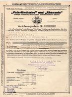 Vaterländische Und Rhenania Versicherung - Alte Papiere
