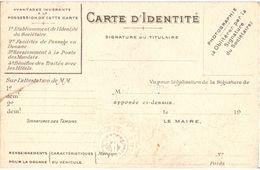 BELLE CARTE D'IDENTITE ILLUSTREE DU TOURING CLUB DE FRANCE 1912 TOURISME AUTO VELO - Wielrennen