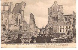 LEUVEN  THE FIRE OF  AUG.22-23-24 1914  Van Engeland Naar Nederland Verzonden 1094/d6 - Leuven