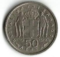 Pièce De Monnaie  50  Lepta 1957 - Grèce