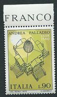 Italia 1973; Andrea Palladio, Architetto Costruì La Rotonda. Francobollo Di Bordo. - 6. 1946-.. Repubblica