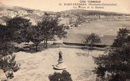 CPA PORT VENDRES - LA PLACE ET LE BASSIN - Port Vendres