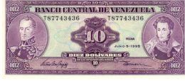 Venezuela P.61 10 Bolivianos  1995 Unc - Venezuela