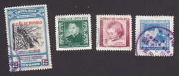 Costa Rica, Scott #RA1, RA3, RA12, RA22, Used/Mint Hinged, Postal Tax, Issued 1958-64 - Costa Rica
