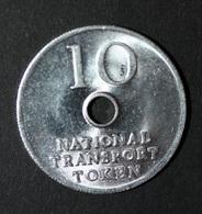 """Jeton De Nécessité De 10 Pence Transport Britannique Ticket De Bus Et Métro """"10 - National Transport Token"""" - Professionals/Firms"""
