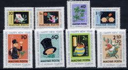HUNGARY 1963 New Year Set Of 8 MNH / **.  Michel 1983-90 - Hungary