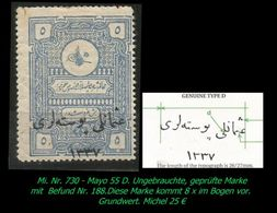 TURKEY , EARLY OTTOMAN SPECIALIZED FOR SPECIALIST, SEE...Mi. Nr. 730 - Mayo 55 D - 1920-21 Anatolie
