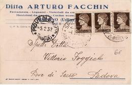 3305 UDINE MEDUNO FACCHIN X PIOVE DI SACCO PADOVA - 1900-44 Vittorio Emanuele III