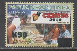 PAPUA NEW GUINEA, 2017, MNH, CENSUS, MARKETS, VEGETABLES, 90K OVERPRINT, VERY SCARCE - Food