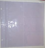 5 FEUILLES BLANCHES POUR CLASSEUR DE CARTES POSTALES -  5x10 = 50 Cartes - Matériel