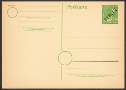 BER P 1 D M 1949 10pf Sower W/black Overprint - Cartes Postales - Neuves