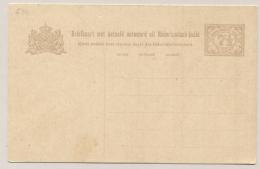 Nederlands Indië - 1922 - 7,5+7,5 Cent Cijfer, Briefkaart G30 Ongebruikt - H&G 31 - Nederlands-Indië