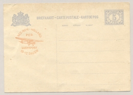 Nederlands Indië - 1931 - 5 Cent Cijfermet Luchtpostreklame, Briefkaart G52b Ongebruikt - H&G 53 - Gebreken / Defect - Nederlands-Indië