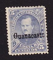 Costa Rica, Guanacaste, Scott #9, Mint Hinged, Fernandez Overprinted, Issued 1885 - Costa Rica