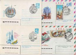 SPACE Stationery 4 Cover USSR RUSSIA Rocket Sputnik Baikonur Soyuz Apollo Nakhabino Gorky - Lettres & Documents