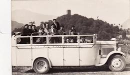 CPA-PHOTO Carte-Photo Autocar à Identifie Autobus Véhicule Locomotion Transport En Commun - Autobus & Pullman