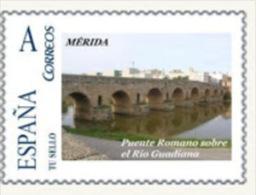 """Spain 2007– España """"Tu Sello"""". Sello Personalizado Del Puente Romano Sobre El Río Guadiana De Mérida - Ponti"""