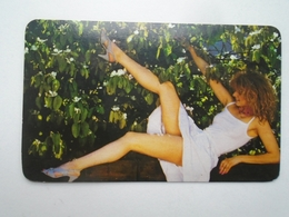 D156596 Hungary Pin Up Girl -Pocket Calendar - Calendrier Poche 1987 - Big : 1981-90