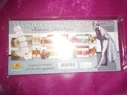 Blocs Souvenir 83 A 88  (masques De Theatre) - Souvenir Blocks & Sheetlets
