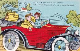 CPA Voiture Véhicule Automobile Locomotion Transportation Humour Illustrateur Anonyme - Cartoline