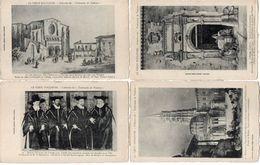 Le Vieux TOULOUSE - 4 CPA - Basilique St Sernin - Collège St Raymond L' Ancien Capitole (Attelage) 4 Capitouls  (102038) - Toulouse