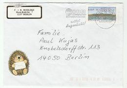1997? GERMANY COVER SLOGAN Christofiel BLIND MISSION SAVES EYESIGHT Health Medicine FRAMA ATM Stamps Hedgehog Label - Handicaps