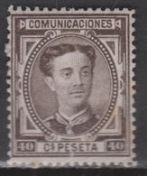 1876 ALFONSO XII 40 Cts NUEVO(*). VER. 112 € - Nuevos