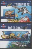 ST. THOMAS, 2015, MNH, TURTLES, SHEETLET + S/SHEET - Turtles