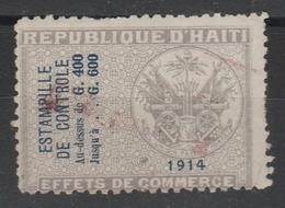 Fiscal Haïti 1914 - Effets De Commerce Surchargé Estampille - Fiscaux - Haïti