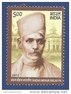 INDIA, 2011,  Madan Mohan Malviya, Educationist And Social Reformer, 1 Value,  MNH, (**) - India