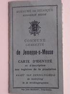 Carte D' Identité De JEMEPPE-sur-Meuse PIRARD Léopold 30 Sept 1857 - Anno 1919 ( Voir Photo Pour Détail ) ! - Alte Papiere