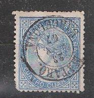 ESPAGNE / ESPANA / SPAIN / SPANIEN ,1867 Isabela II , Yvert N° 87, 4 Cuartos Bleu Obl; Cachet MATARO BARCELONA , - 1850-68 Königreich: Isabella II.