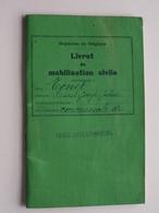 Livret De MOBILISATION Civile ( TONET Ernest - Namur 1908 ) Gelbressée Anno 1928/35 ( Détail Zie / Voir Photo ) ! - Documents