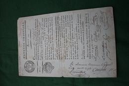 PATENTE DE MARCHAND DRAPIER 1791 Gironde - Seals Of Generality