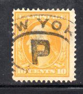 T1858 - STATI UNITI 1908 , 10 Cent  Usato Yvert N. 174 - Used Stamps
